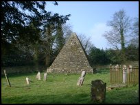 Brightling East Sussex - The Pyramid in the churchyard
