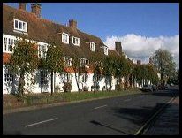 Burwash East Sussex - Houses at the Eastern end of the High St