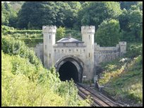 The Brighton line gothic tunnel entrance -&n