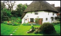 Thatched cottage.